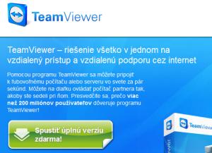 Stiahnutie programu TeamViewer