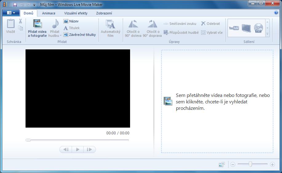 Pridanie videa do programu
