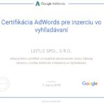 AdWords certifikát Leitus