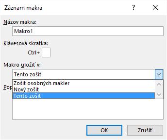 Záznam makra - Excel