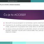 Access online kurz - Ukážka