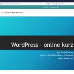 WP online kurz - prezentácia